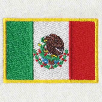 flag patch embroidery